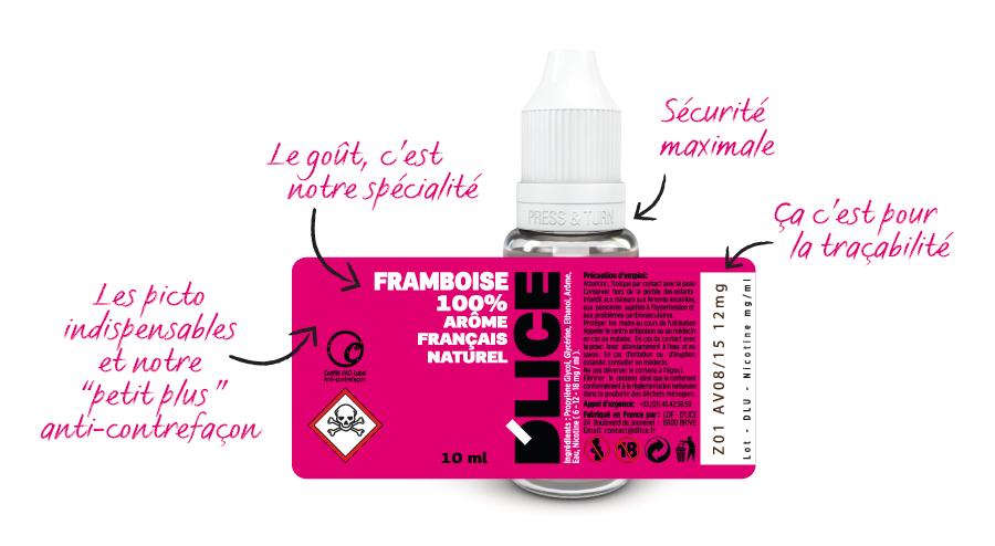 Les étiquettes D'LICE France sont contrôlées régulièrement par la DGCCFR. Elles sont les plus sûres de France. Vous pouvez commercialiser nos produits sereinement